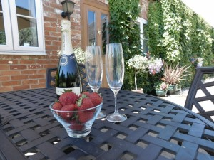 Champagne on the Patio
